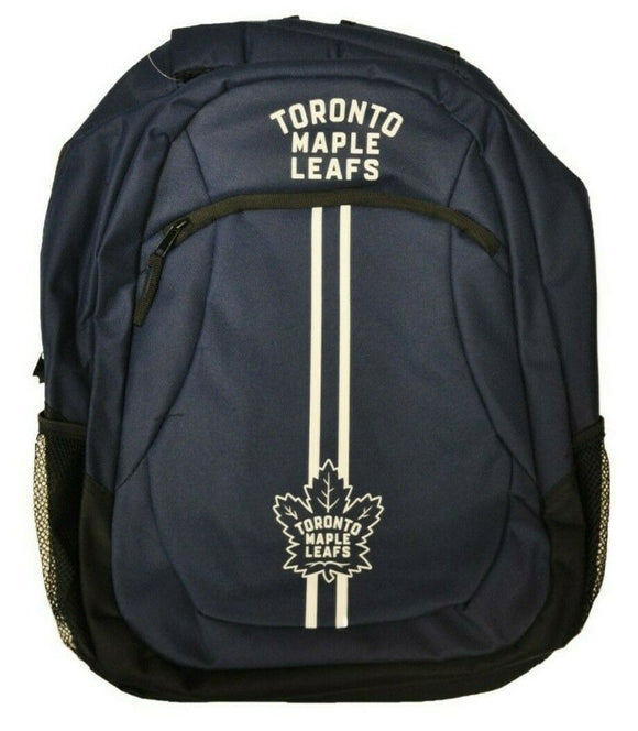 Toronto Maple Leafs Action Stripe Pack Backpack Bag Made By Forever Collectibles - Bleacher Bum Collectibles, Toronto Blue Jays, NHL , MLB, Toronto Maple Leafs, Hat, Cap, Jersey, Hoodie, T Shirt, NFL, NBA, Toronto Raptors