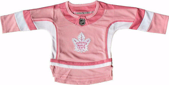 Toronto Maple Leafs Girls' Pink Hockey Fashion Premier Infant Kids Youth Jersey
