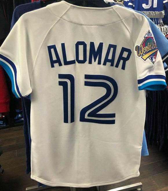 Men's Toronto Blue Jays Roberto Alomar Mitchell & Ness White Cooperstown Collection 1992 Authentic Jersey - Bleacher Bum Collectibles, Toronto Blue Jays, NHL , MLB, Toronto Maple Leafs, Hat, Cap, Jersey, Hoodie, T Shirt, NFL, NBA, Toronto Raptors