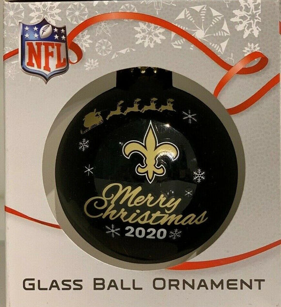 New Orleans Saints Shatter Proof Single Ball Christmas Ornament NFL Football
