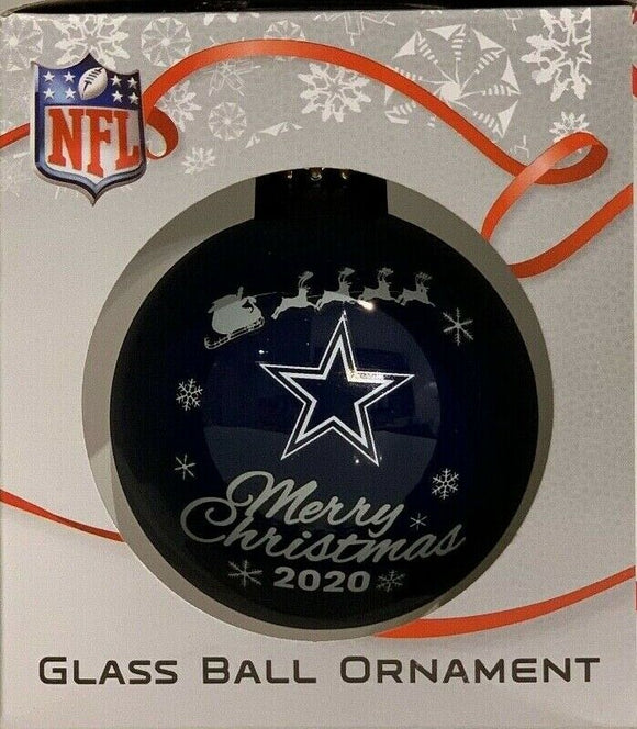 Dallas Cowboys Shatter Proof Single Ball Christmas Ornament NFL Football