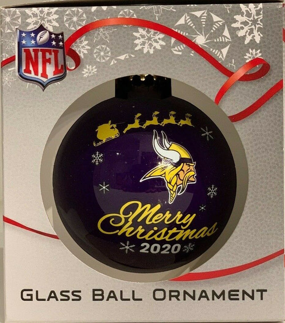 Minnesota Vikings Shatter Proof Single Ball Christmas Ornament NFL Football