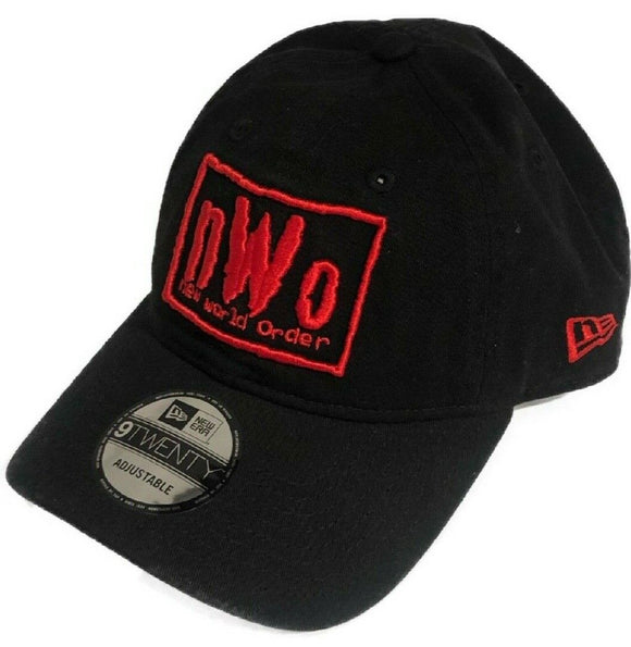 NWO New World Order WWE Wrestling New Era 9Twenty Adjustable Strapback Red & Black Hat Cap