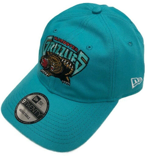 Men's New Era Teal Vancouver Grizzles Hardwood Classic - 9TWENTY Adjustable Hat - Bleacher Bum Collectibles, Toronto Blue Jays, NHL , MLB, Toronto Maple Leafs, Hat, Cap, Jersey, Hoodie, T Shirt, NFL, NBA, Toronto Raptors