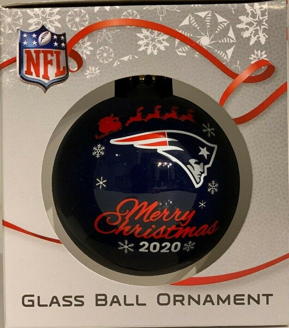 New England Patriots Shatter Proof Single Ball Christmas Ornament NFL Football