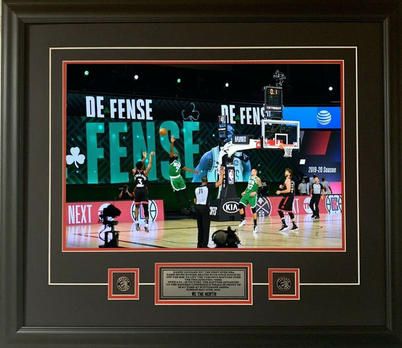 Toronto Raptors OG Anunoby Game 3 Buzzer Beater Shot in Colour 16x20 Picture Framed