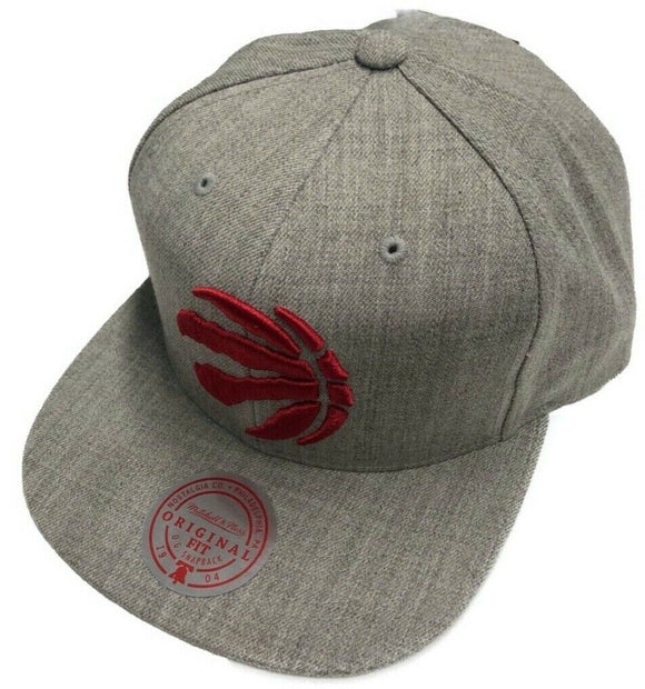 Toronto Raptors Team Heather Grey Hat Primary Logo NBA Basketball Mitchell & Ness Snapback Cap - Bleacher Bum Collectibles, Toronto Blue Jays, NHL , MLB, Toronto Maple Leafs, Hat, Cap, Jersey, Hoodie, T Shirt, NFL, NBA, Toronto Raptors