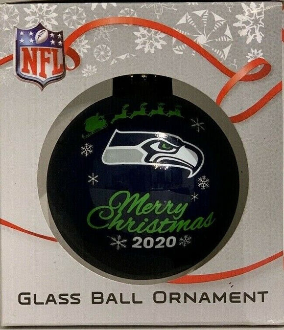 Seattle Seahawks Shatter Proof Single Ball Christmas Ornament NFL Football