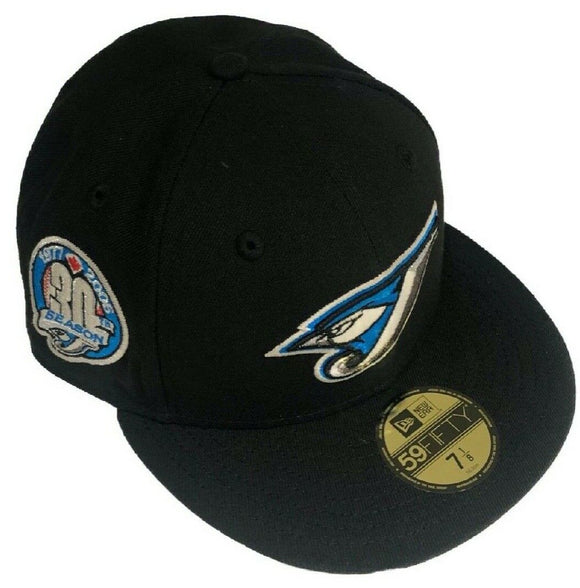 Toronto Blue Jays New Era 59fifty 30th Anniversary Side Patch Fitted Custom Black Hat Cap