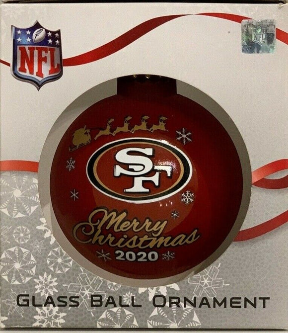 San Francisco 49ers Shatter Proof Single Ball Christmas Ornament NFL Football