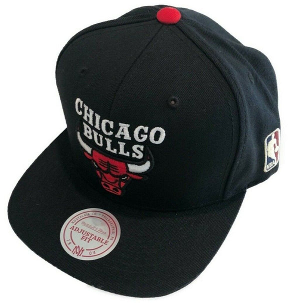 Chicago Bulls Red Logo Basketball Mitchell Ness Snapback Adjustable Wordmark Hat - Bleacher Bum Collectibles, Toronto Blue Jays, NHL , MLB, Toronto Maple Leafs, Hat, Cap, Jersey, Hoodie, T Shirt, NFL, NBA, Toronto Raptors