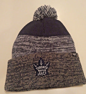 Men's Toronto Maple Leafs Static Cuffed Pom Toque Beanie Knit Hat Cap - Bleacher Bum Collectibles, Toronto Blue Jays, NHL , MLB, Toronto Maple Leafs, Hat, Cap, Jersey, Hoodie, T Shirt, NFL, NBA, Toronto Raptors