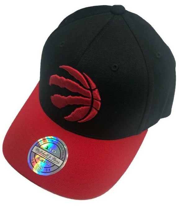 Toronto Raptors Wool 2 Tone Black Red Hat Primary Logo NBA Basketball Mitchell & Ness Flex Fit Snapback Cap - Bleacher Bum Collectibles, Toronto Blue Jays, NHL , MLB, Toronto Maple Leafs, Hat, Cap, Jersey, Hoodie, T Shirt, NFL, NBA, Toronto Raptors