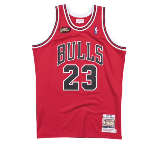Men's Chicago Bulls Michael Jordan Mitchell & Ness Red 1997-98 Hardwood Classics Authentic Player Jersey - Bleacher Bum Collectibles, Toronto Blue Jays, NHL , MLB, Toronto Maple Leafs, Hat, Cap, Jersey, Hoodie, T Shirt, NFL, NBA, Toronto Raptors