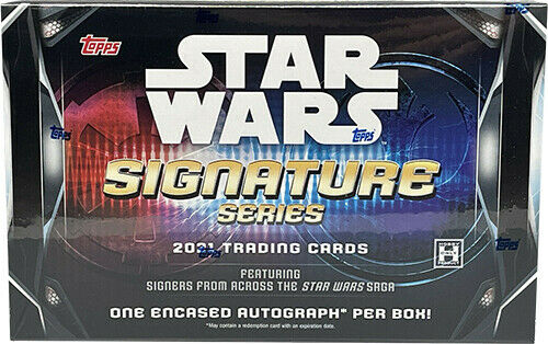 Star Wars 2021 Topps Signature Series Hobby Box 1 Autograph Per Box