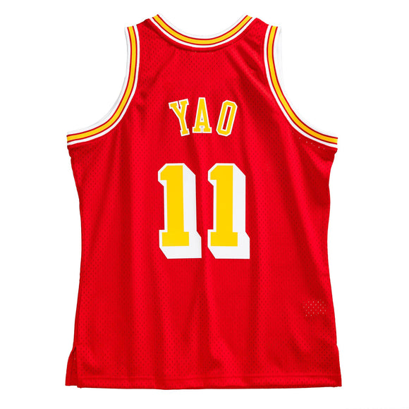 Men's Houston Rockets Yao Ming Mitchell & Ness Scarlet 2004-05 Hardwood Classics Swingman Jersey