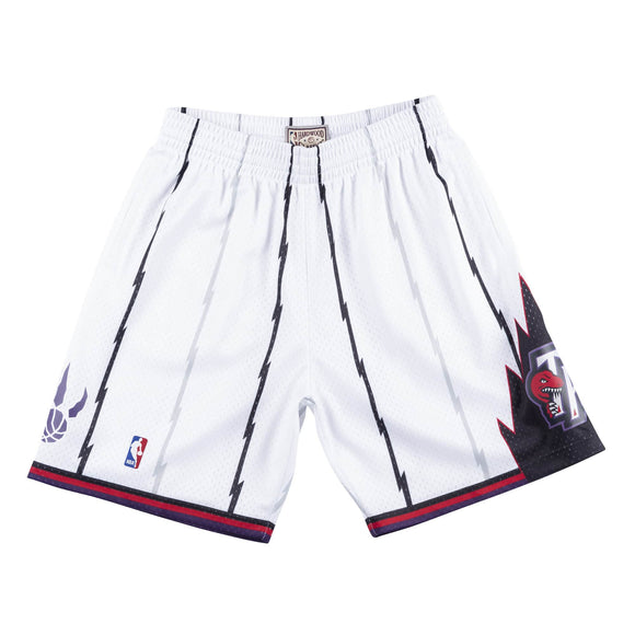 Men's Toronto Raptors Mitchell & Ness White Hardwood Classics Swingman Shorts - Bleacher Bum Collectibles, Toronto Blue Jays, NHL , MLB, Toronto Maple Leafs, Hat, Cap, Jersey, Hoodie, T Shirt, NFL, NBA, Toronto Raptors