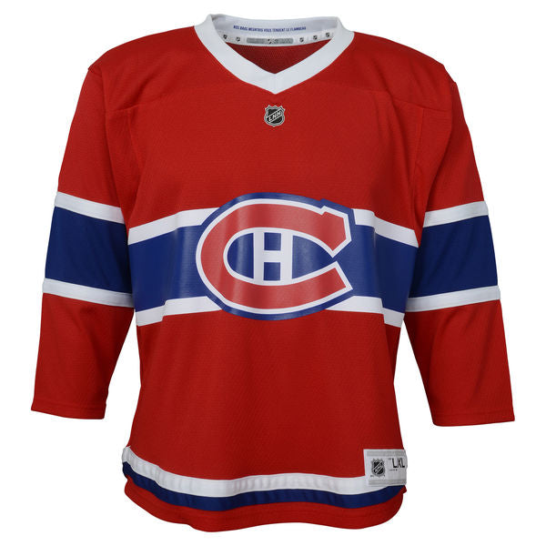 hot sales c6367 a06de Montreal Canadiens Red Premier Preschool Ages 4-7 Years Old - Blank Hockey  Jersey