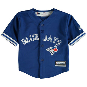 Infant Toronto Blue Jays Majestic Alternate Royal Official Cool Base Jersey - Bleacher Bum Collectibles, Toronto Blue Jays, NHL , MLB, Toronto Maple Leafs, Hat, Cap, Jersey, Hoodie, T Shirt, NFL, NBA, Toronto Raptors