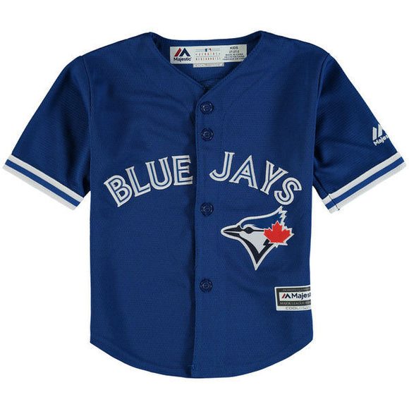 Toddler Toronto Blue Jays Majestic Royal Alternate Official Cool Base Jersey - Bleacher Bum Collectibles, Toronto Blue Jays, NHL , MLB, Toronto Maple Leafs, Hat, Cap, Jersey, Hoodie, T Shirt, NFL, NBA, Toronto Raptors