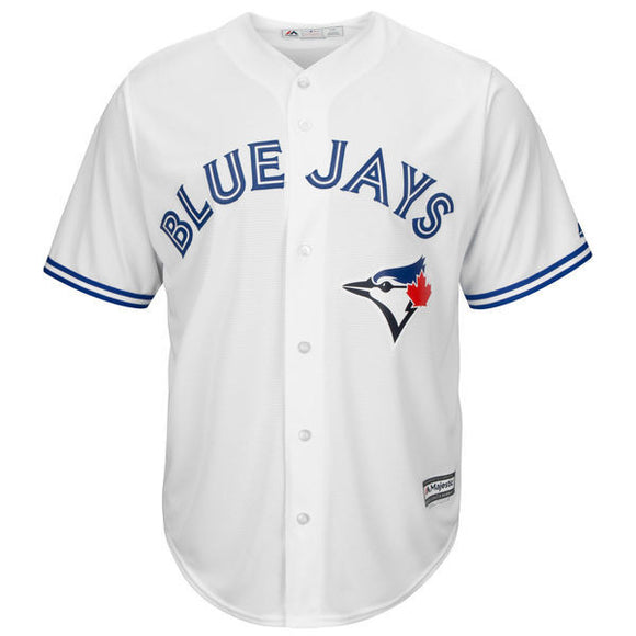 Youth Toronto Blue Jays Majestic White Home Cool Base Jersey - Bleacher Bum Collectibles, Toronto Blue Jays, NHL , MLB, Toronto Maple Leafs, Hat, Cap, Jersey, Hoodie, T Shirt, NFL, NBA, Toronto Raptors
