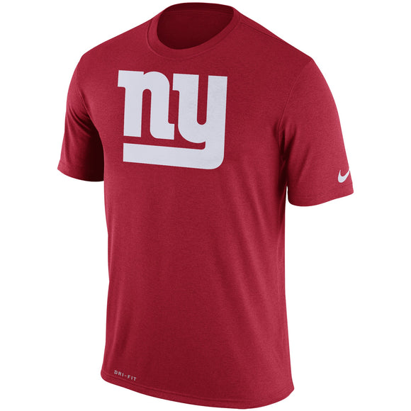 Nike New York Giants Red Legend Performance Logo Essential 3 NFL Football T-Shirt