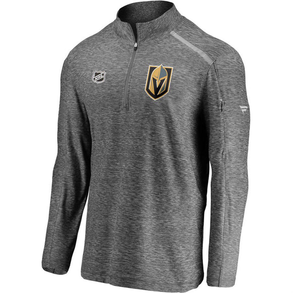 Men's Fanatics Branded Heathered Gray Vegas Golden Knights Authentic Pro Clutch Quarter-Zip Pullover Jacket - Bleacher Bum Collectibles, Toronto Blue Jays, NHL , MLB, Toronto Maple Leafs, Hat, Cap, Jersey, Hoodie, T Shirt, NFL, NBA, Toronto Raptors