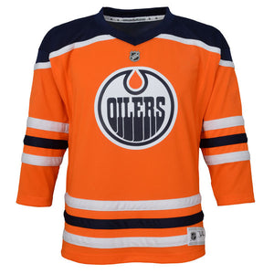 Edmonton Oilers Orange Home Premier Infant 12-24 Months - Blank Hockey Jersey - Bleacher Bum Collectibles, Toronto Blue Jays, NHL , MLB, Toronto Maple Leafs, Hat, Cap, Jersey, Hoodie, T Shirt, NFL, NBA, Toronto Raptors