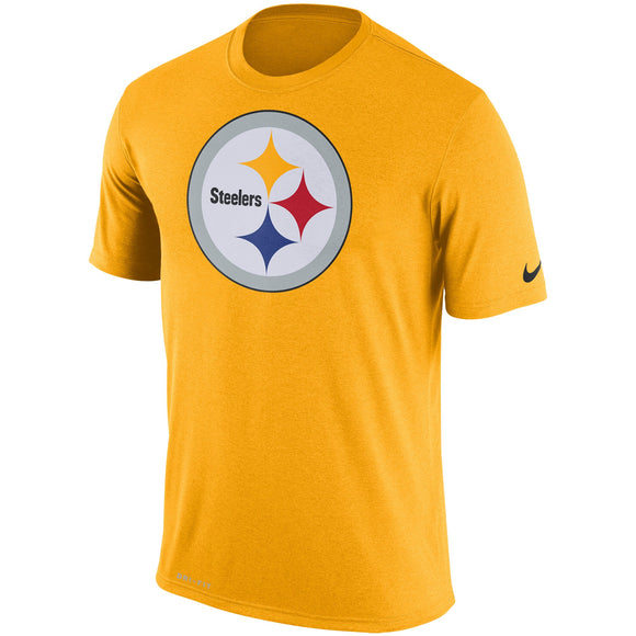 Nike Pittsburgh Steelers Yellow Legend Performance Logo Essential 3 NFL Football T-Shirt