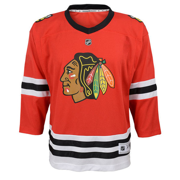 promo code b945f f763d Chicago Blackhawks Red Premier Toddler Ages 2 to 4T - Blank Hockey Jersey - Bleacher  Bum