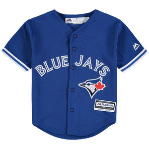 Child Toronto Blue Jays Majestic Alternate Cool Base Jersey - Bleacher Bum Collectibles, Toronto Blue Jays, NHL , MLB, Toronto Maple Leafs, Hat, Cap, Jersey, Hoodie, T Shirt, NFL, NBA, Toronto Raptors