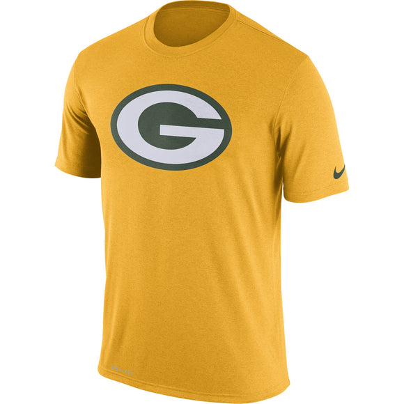Nike Green Bay Packers Yellow Legend Performance Logo Essential 3 NFL Football T-Shirt