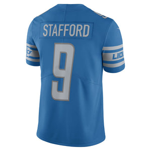 Men's Detroit Lions Matthew Stafford Nike Blue Vapor Untouchable Limited Player Jersey - Bleacher Bum Collectibles, Toronto Blue Jays, NHL , MLB, Toronto Maple Leafs, Hat, Cap, Jersey, Hoodie, T Shirt, NFL, NBA, Toronto Raptors