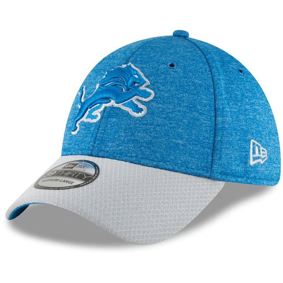 Men's New Era Blue/Gray Detroit Lions Sideline Home Official - 39THIRTY Flex Hat - Bleacher Bum Collectibles, Toronto Blue Jays, NHL , MLB, Toronto Maple Leafs, Hat, Cap, Jersey, Hoodie, T Shirt, NFL, NBA, Toronto Raptors