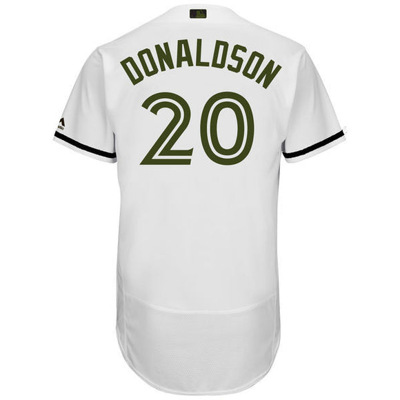 Men's Toronto Blue Jays Josh Donaldson Majestic White 2017 Memorial Day Cool Base Player Jersey - Bleacher Bum Collectibles, Toronto Blue Jays, NHL , MLB, Toronto Maple Leafs, Hat, Cap, Jersey, Hoodie, T Shirt, NFL, NBA, Toronto Raptors