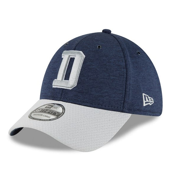 7a854af25 Men s New Era Navy Gray Dallas Cowboys Sideline Home Official - 39THIRTY  Flex Hat -