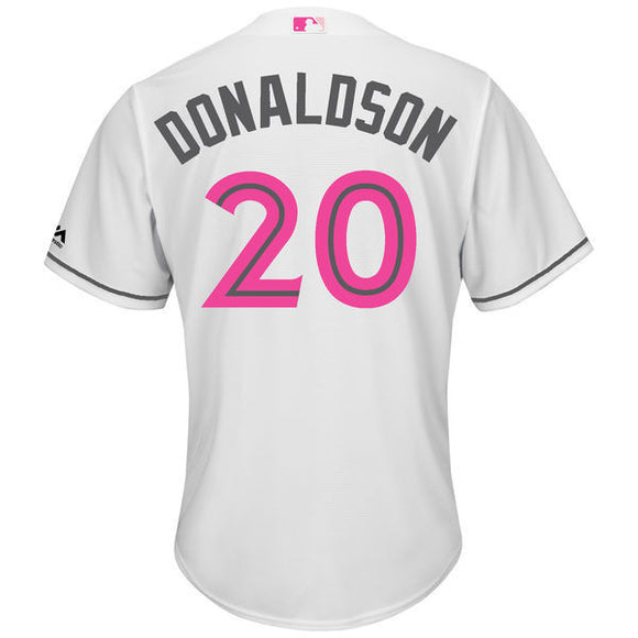 Men's Toronto Blue Jays Josh Donaldson Majestic White Mother's Day Cool Base Replica Jersey - Bleacher Bum Collectibles, Toronto Blue Jays, NHL , MLB, Toronto Maple Leafs, Hat, Cap, Jersey, Hoodie, T Shirt, NFL, NBA, Toronto Raptors