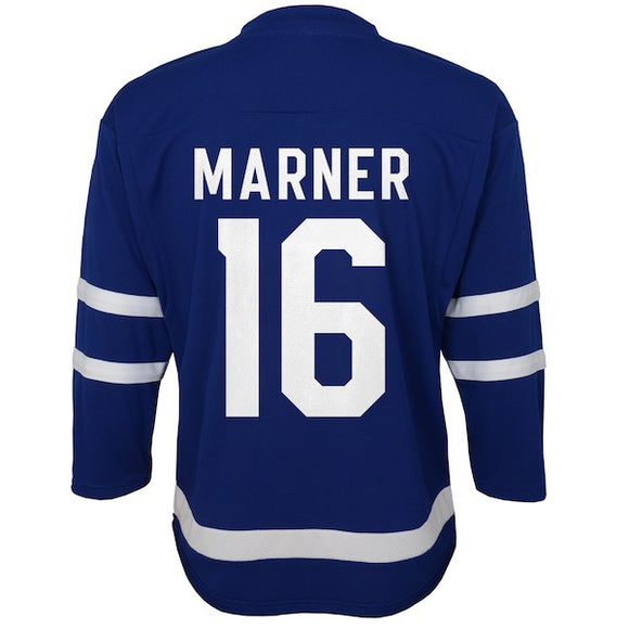 Preschool Toronto Maple Leafs Mitch Marner Royal Premier - Age 4-7 Jersey - Bleacher Bum Collectibles, Toronto Blue Jays, NHL , MLB, Toronto Maple Leafs, Hat, Cap, Jersey, Hoodie, T Shirt, NFL, NBA, Toronto Raptors