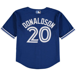 Child Toronto Blue Jays Josh Donaldson Majestic Alternate Royal Official Cool Base Player Jersey - Bleacher Bum Collectibles, Toronto Blue Jays, NHL , MLB, Toronto Maple Leafs, Hat, Cap, Jersey, Hoodie, T Shirt, NFL, NBA, Toronto Raptors