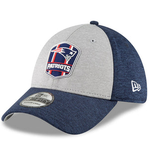 Men's New England Patriots New Era Heather Gray/Navy 2018 NFL Sideline Road Official 39THIRTY Flex Hat - Bleacher Bum Collectibles, Toronto Blue Jays, NHL , MLB, Toronto Maple Leafs, Hat, Cap, Jersey, Hoodie, T Shirt, NFL, NBA, Toronto Raptors