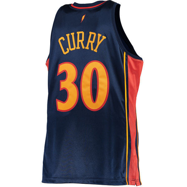 watch fbc57 3334a Men's Golden State Warriors Stephen Curry Mitchell & Ness Navy 2009-10  Hardwood Classics Rookie Authentic Jersey