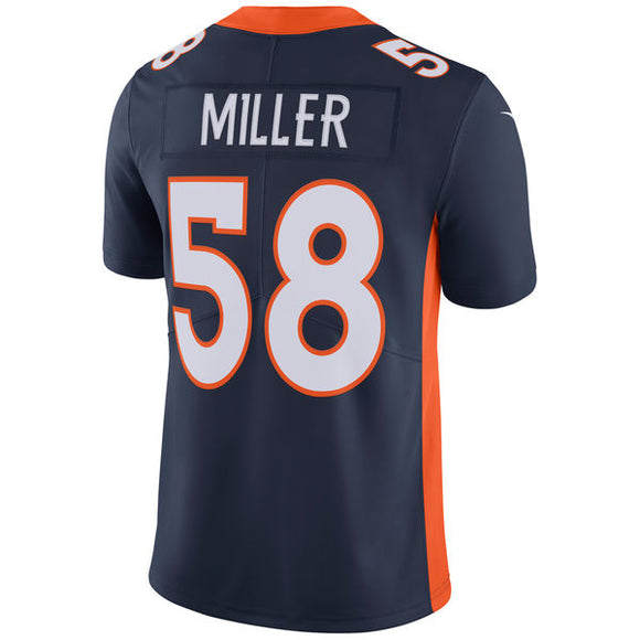 Men's Denver Broncos Von Miller Nike Navy Vapor Untouchable Limited Player NFL Jersey - Bleacher Bum Collectibles, Toronto Blue Jays, NHL , MLB, Toronto Maple Leafs, Hat, Cap, Jersey, Hoodie, T Shirt, NFL, NBA, Toronto Raptors