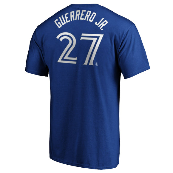 Men's Vladimir Guerrero Jr. Toronto Blue Jays Majestic Official Name & Number T-Shirt - Royal - Bleacher Bum Collectibles, Toronto Blue Jays, NHL , MLB, Toronto Maple Leafs, Hat, Cap, Jersey, Hoodie, T Shirt, NFL, NBA, Toronto Raptors