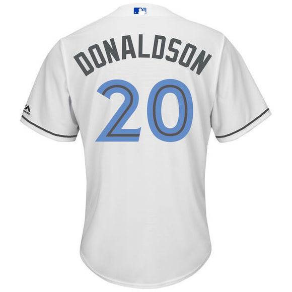 Men's Toronto Blue Jays Josh Donaldson Majestic White Father's Day Cool Base Replica Jersey - Bleacher Bum Collectibles, Toronto Blue Jays, NHL , MLB, Toronto Maple Leafs, Hat, Cap, Jersey, Hoodie, T Shirt, NFL, NBA, Toronto Raptors