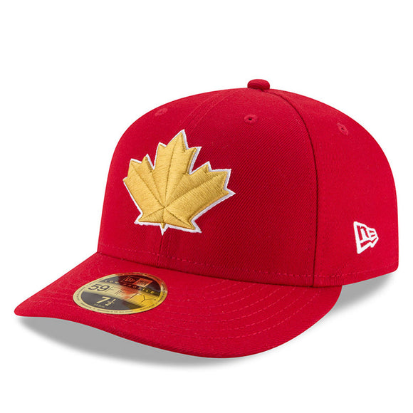 Men's Toronto Blue Jays New Era Red 2018 Stars & Stripes 4th of July On-Field Low Profile 59FIFTY Fitted Hat - Bleacher Bum Collectibles, Toronto Blue Jays, NHL , MLB, Toronto Maple Leafs, Hat, Cap, Jersey, Hoodie, T Shirt, NFL, NBA, Toronto Raptors