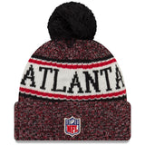 Men's New Era NFL Football Sideline Official Sport Cuffed Knit Hat with Pom - Multiple Teams - Bleacher Bum Collectibles, Toronto Blue Jays, NHL , MLB, Toronto Maple Leafs, Hat, Cap, Jersey, Hoodie, T Shirt, NFL, NBA, Toronto Raptors