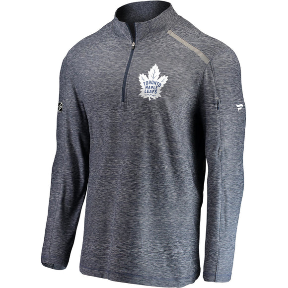 Men's Fanatics Branded Heathered Navy Toronto Maple Leafs Authentic Pro Clutch Quarter-Zip Pullover Jacket - Bleacher Bum Collectibles, Toronto Blue Jays, NHL , MLB, Toronto Maple Leafs, Hat, Cap, Jersey, Hoodie, T Shirt, NFL, NBA, Toronto Raptors
