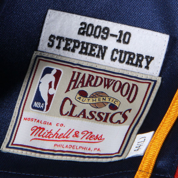 4a48f7854f31 ... Men s Golden State Warriors Stephen Curry Mitchell   Ness Navy 2009-10  Hardwood Classics Rookie