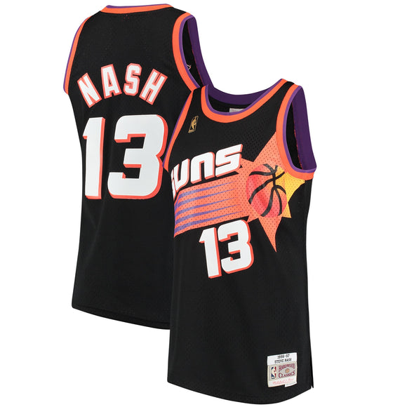 Men's Phoenix Suns Steve Nash Mitchell & Ness Black 1996-97 Hardwood Classics Swingman Jersey - Bleacher Bum Collectibles, Toronto Blue Jays, NHL , MLB, Toronto Maple Leafs, Hat, Cap, Jersey, Hoodie, T Shirt, NFL, NBA, Toronto Raptors