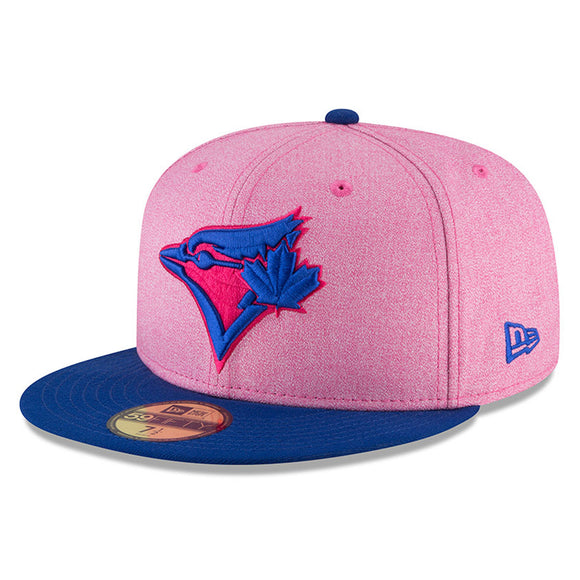 Men's New Era Pink/Royal Toronto Blue Jays 2018 Mother's Day On-Field 59FIFTY Fitted Hat - Bleacher Bum Collectibles, Toronto Blue Jays, NHL , MLB, Toronto Maple Leafs, Hat, Cap, Jersey, Hoodie, T Shirt, NFL, NBA, Toronto Raptors